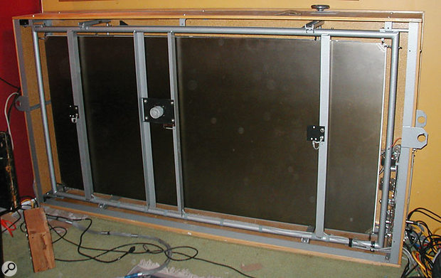 A classic EMT 140 Plate Reverb in hardware form.