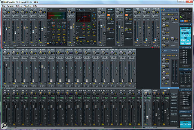 The Totalmix FX+ software.