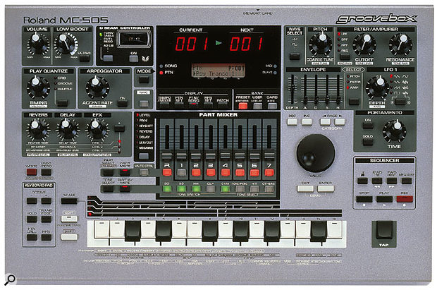 The MC505 vastly improved on the Groovebox concept introduced with 1996's MC303.
