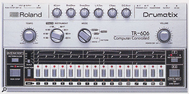 The TB303 and TR606 were clearly designed to be used together, as can be seen from their physical resemblence. But one went on to defy all expectations and become the sonic heart of thousands of dance classics, years after the deletion of the product, while the other is a now largely forgotten drum machine.