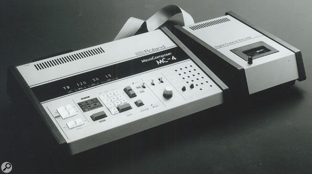 The last CV/Gate sequencer, the MC4, with its cassette tape backup recorder. Very 1981!