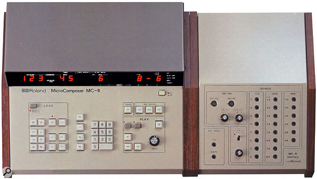 Roland's first sequencer, the computerised CV- and Gate-based MC8, which sported a truly staggering 16K of note memory.
