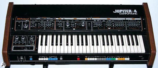 The first true Roland polysynth, the Jupiter 4.