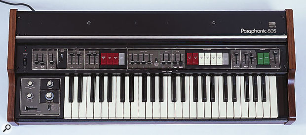 One of Roland's finest string synths, the paraphonic RS505.