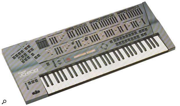 Into the '90s! The JD800 was a decisive break with the plain, 'one data wheel and a two-line LCD' design of Roland's late-'80s synths, and its slider-tastic control surface means it's still popular today.