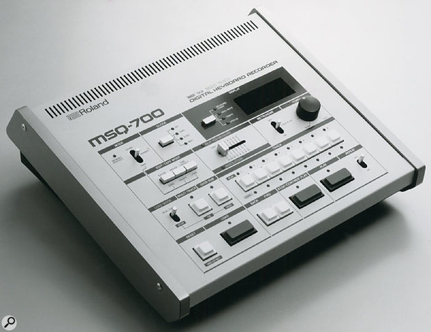 Roland's first MIDI sequencer, the MSQ700.