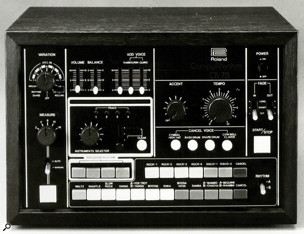 The forerunner of all the great Roland drum machines, the CR78.
