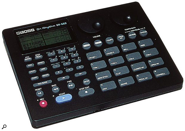 The Boss DR660 was a popular 'starter' drum machine, and remained in the catalogue for over half a decade.
