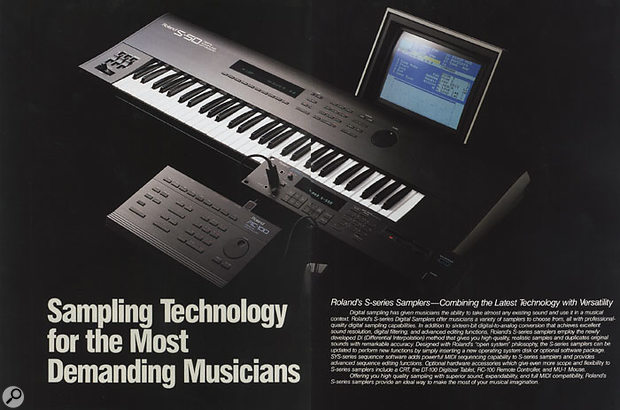 Roland's S-series samplers innovatively offered monitor output options, so you could attach a monitor and a mouse to make editing and keygrouping easier.