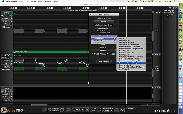 To add a Process, you must first choose a preset, but don't worry — you'll be able to tweak it later.