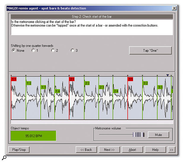 The Remix Agent provides beat-mapping features similar to those available in Sony's Acid.