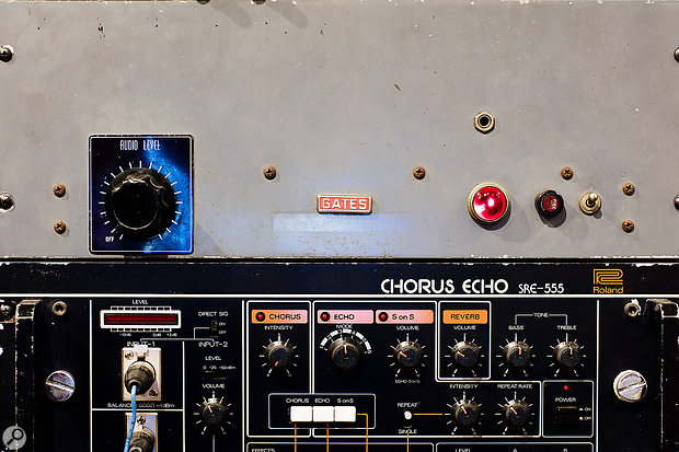 Classic gear at Boulevard includes a Gates preamplifier and Roland Chorus Echo.