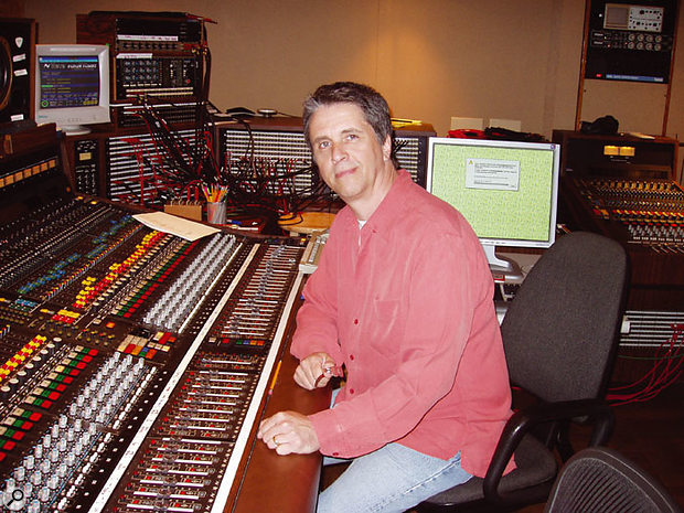 Engineer Mark Linett at Sunset Sound during the tracking sessions for the completed SMiLE album, April 2004.