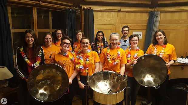 Recorded this month: The Cambridge University Steel Pan Society were established in 2010 and have been supported by Lucy Cavendish College ever since. They teach complete beginners how to play and, predominantly, play their own arrangements of contemporary songs. They often perform at events such as May Balls and garden parties.