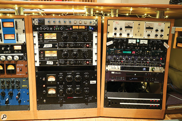 Outboard racks at Kore Studios.