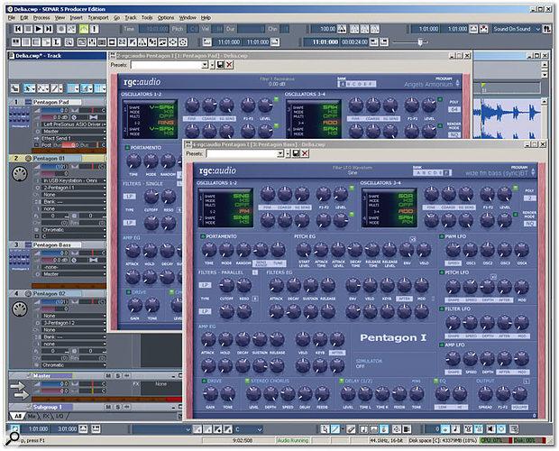 Programming Sonar 5's Pentagon I Soft Synth