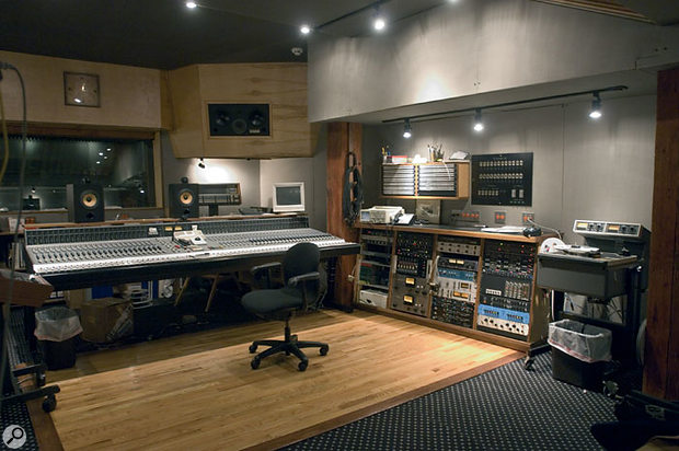 The Neotek Elite desk in the larger control room at Electrical Audio has been extensively modified.