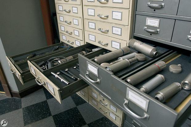 Electrical Audio's well-stocked mic locker.