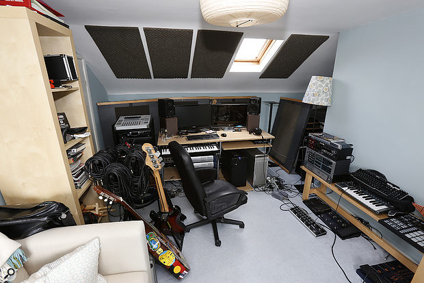 Some acoustic treatment was already in place, but the sound from the monitors was still cause for concern.