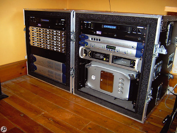 Thunder's recording projects are taken care of by this Pro Tools HD rig.