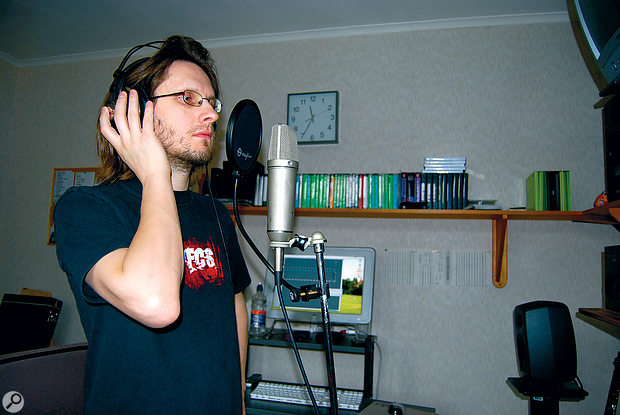 Steven Wilson at work in the old studio at his parents' bungalow, which was used to record most of Porcupine Tree's catalogue.