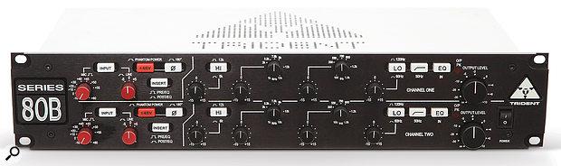 Trident Series 80B Dual Channel strip.