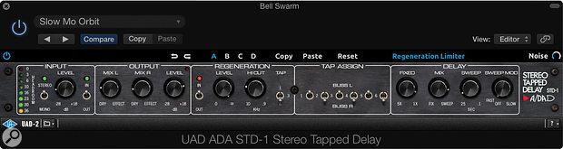 A/DA Stereo Tapped Delay.