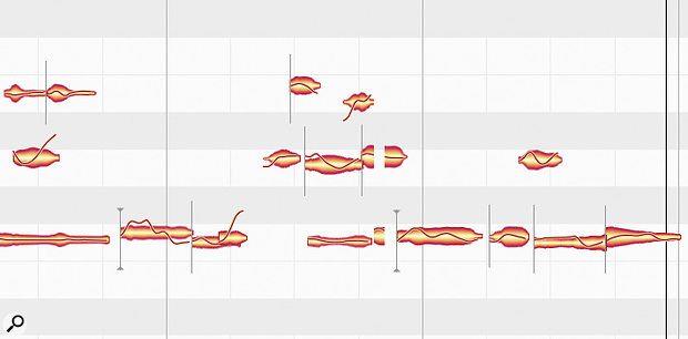 Melodyne's Note Separation options may allow you to rescue the starts or ends of particular words in your vocal, which are often missed by Melodyne due to their lack of pitch information.