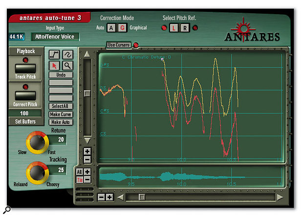 Although the Antares Auto-Tune graphic display can be used to pitch-shift sections of a vocal manually, some engineers use it merely as a detection tool, either for providing visual cues for pitch processing in another application, or for providing feedback to novice vocalists in order to improve their tuning during performance.