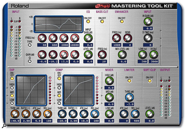 In terms of feature set, little has changed in the Mastering Tool Kit algorithm during its transition to the VS8F3 from the VS8F2, but the increased 56-bit resolution of the new card may now encourage more people to use its powerful array of processing.