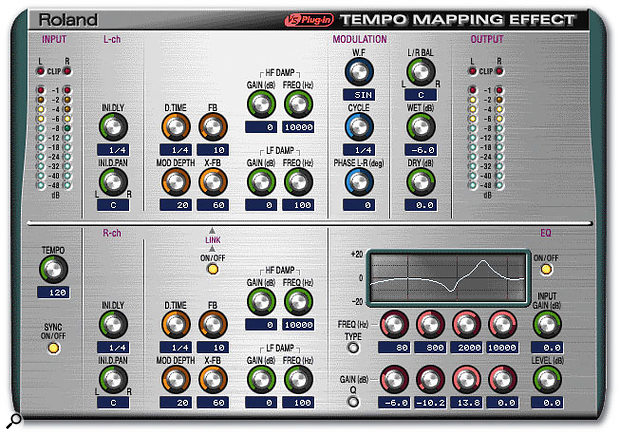 Roland's bundled Tempo Mapping Effect can detect the tempo within your multitracker project, and then use this to set delay and modulation times.