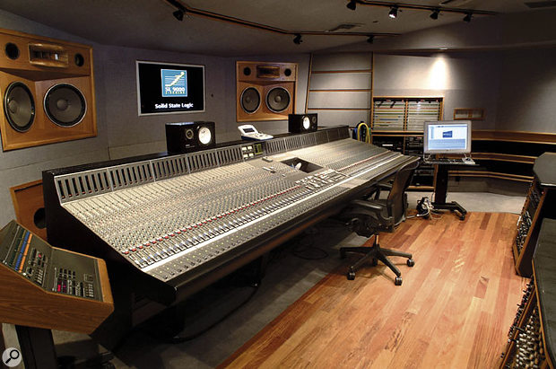 Jean's Platinum Sound studio features two SSL rooms, both with SSL consoles. This is the J9000.