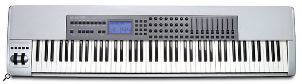 Paul Wiffen explains how to get the Keystation Pro 88's transport controls to communicate with Logic.