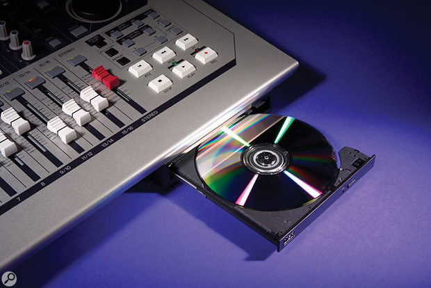 The AW1600's CD-RW drive can be used to write audio CDs in track-at-once or disc-at-once modes, and can also be used to import and export WAV files — particularly useful in conjunction with the Quick Loop Sampler.
