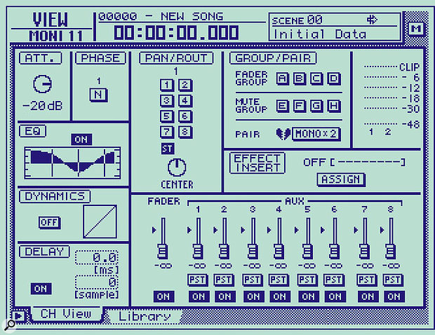 In this example, channel 11's fader is about 20dB too low, so the Att control should be adjusted to its -20dB setting...