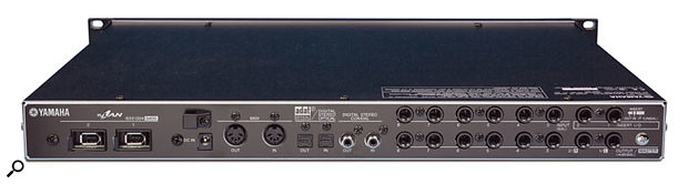 The i88X's analogue and digital I/O can all be used simultaneously, for a total of up to 18 audio inputs and outputs.