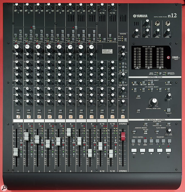 The first eight channels of the N12 include a new approach to compression, based on that used in higher-end Yamaha desks. There are only two controls, but despite the simple approach it seems to be very effective.