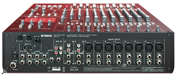 Almost all of the connections (bar the headphone outputs) are located on the rear panel. As well as the usual jacks and XLRs you'd expect to see on a mixer, the N12 includes MIDI and Firewire connectors to link to your PC or Mac.