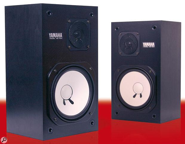 Yamaha NS10 nearfield monitors.