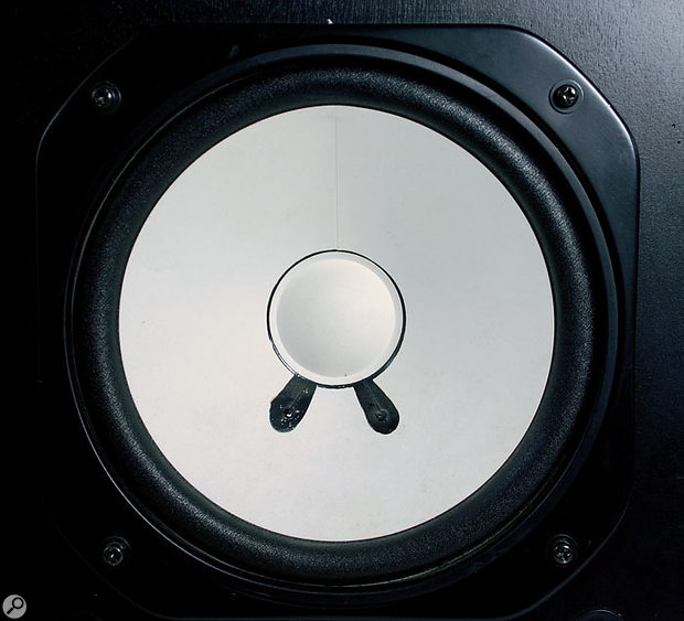 The curl-and-join construction of the NS10's paper cone (look closely and you can see the glued seam) is not typical of most speaker designs — and is a factor in the NS10's success in the studio.