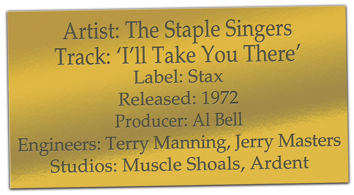 The Staple Singers Ill Take You There