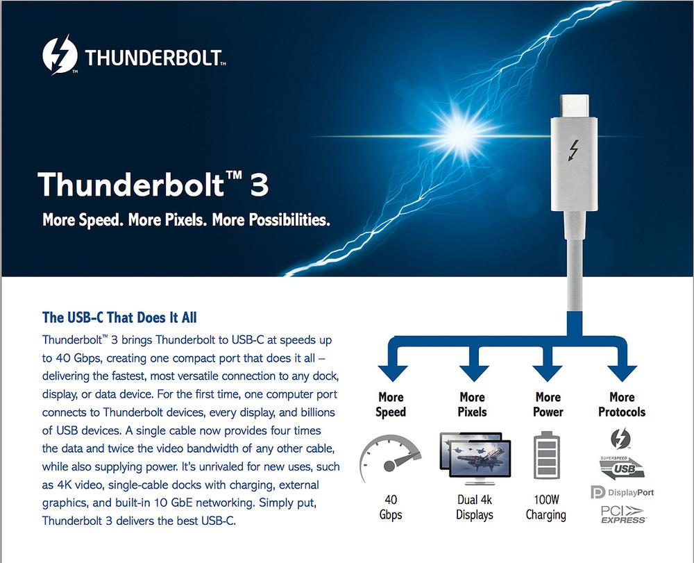 Thunderbolt™ 3 – The USB-C That Does It All | Thunderbolt ...