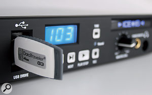 The ICE 16 can record direct to USB media connected via the front panel.