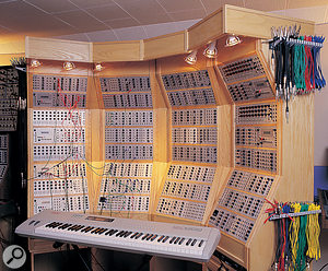 The centrepiece of the Museum of Synthesizer Technology was Analogue Systems' one-off Phoenix modular.