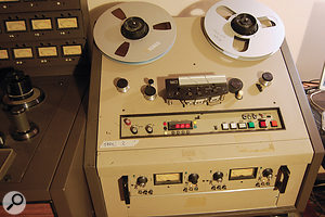 One of the main attractions of The Bomb Shelter, as far as the band was concerned, was the ability to track to tape.