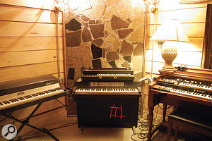 The Bomb Shelter boasts a fine array of vintage electro-mechanical keyboards, including Rhodes and Wurlitzer electric pianos and Hammond organs.
