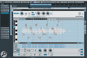 Auto-Tune 8 running in Graphical Mode within Cubase Pro 8.