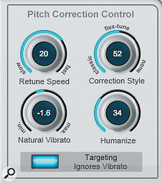 You can adjust the automatic pitch-correction behaviour by shifting the balance between the Classic, Flex-Tune or None modes.