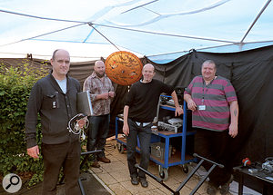 Freelance adaptive music technology specialist Doug Briggs (above left) and his team.
