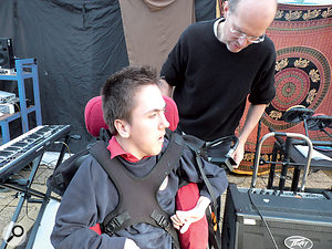 Adaptive and assistive technology is helping Melland High School pupil Liam Steenson realise his ambition of playing rock guitar.